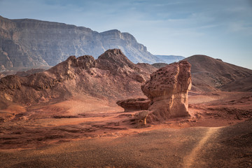 the valley view point in timna national park i Wall mural