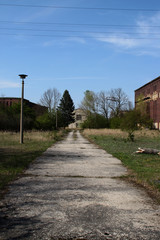 Ein altes Firmengelände in Zschornewitz