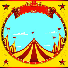 Square flyer nice day circus. A flyer on circus theme for you