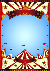 Blue sky circus. A circus vintage poster for your entertainment