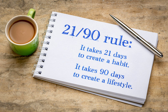 develop habit and lifestyle 21-90 rule