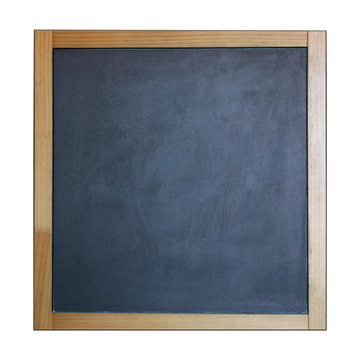 high quality of empty blackboard photography with wooden frame