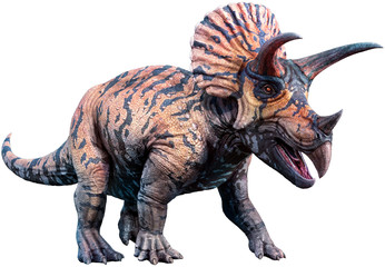 Triceratops 3D illustration Wall mural