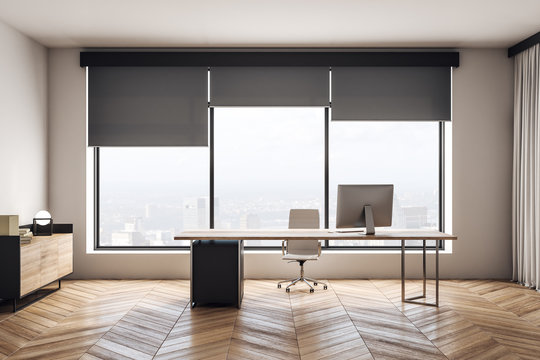 Modern wooden office interior