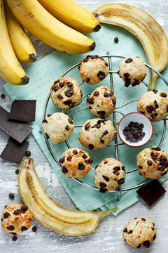 Banana chocolate chips cookies