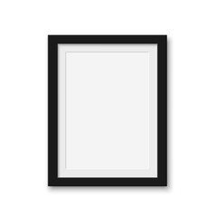 Wall Mural - Mock up blank picture frame for photographs.