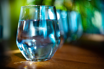 A glass of pure, fresh and healthy water