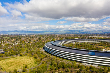 Wall Mural - Aerial drone photo Apple Park Cupertino CA