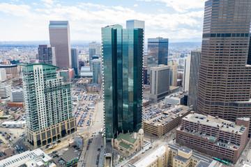 Aerial photos of Denver CO USA