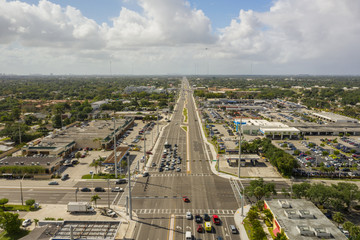 State Road 7 Fort Lauderdale FL aerial drone photos