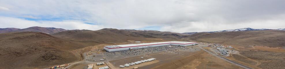 Aerial panorama Tesla Gigafactory Sparks Nevada USA image