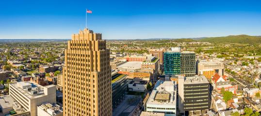 Obraz Aerial panorama of Allentown, Pennsylvania skyline - fototapety do salonu