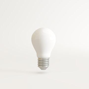 Lightbulb on white background. 3d rendering