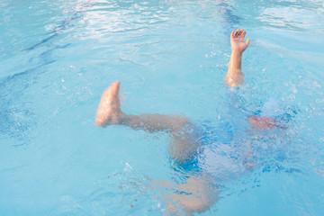 Children are drowning in danger, needing help. Fototapete