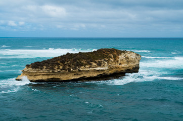 Great Ocean Road (GOR): Scenic view from Twelve Apostles (Australia, Victoria) with cloudy sky