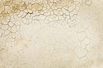 Drought background. Dried soil.