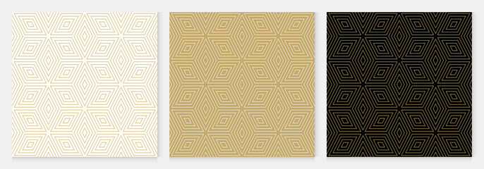 Background pattern seamless geometric diamond abstract gold luxury color vector.