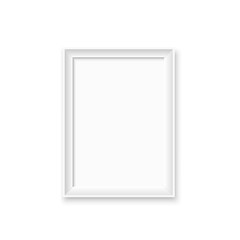 Wall Mural - Mock up blank picture frame for photographs