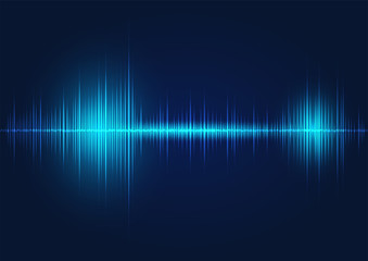 line soundwave abstract background Wall mural