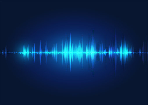 line soundwave abstract background