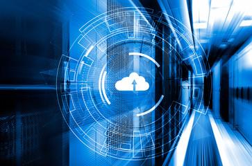 Data cloud storage global network 3D rendering motion background