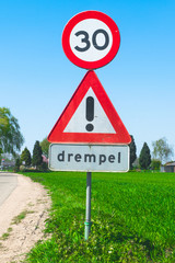Dutch trafic sign in country side