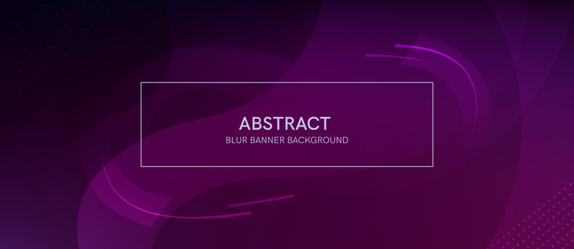 Abstract banner with a gradient shapes and blur