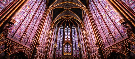 Paris / Sainte Chapelle - Chapelle haute Wall mural