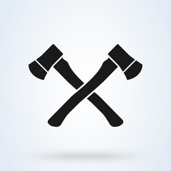 Crossed Axes Vector Illustration -  isolated on white background.