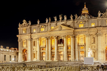 Saint Peter Basilica building in Vatican Rome