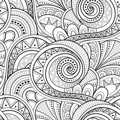 Monochrome Ethnic Seamless Pattern