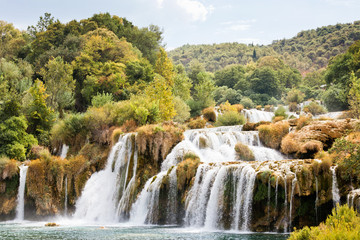 Krka, Sibenik, Croatia - Hiking through the impressive landscape of Krka National Park