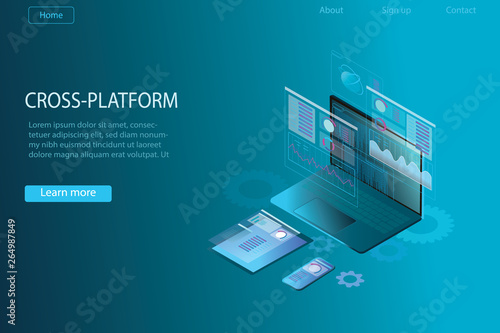 Web development and coding  Cross platform development website