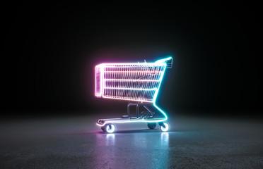 Neon background. Cyberpunk electronic night background concept. - fototapety na wymiar