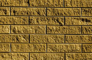 Golden detailed high resolution brickwork texture background - stock photo