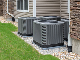 Outdoor air conditioning and heat pump units Fotobehang