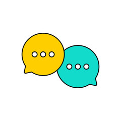 Wall Mural - Best chat speech bubble set. Template of message bubbles chat boxes icons. Chat, bubble, speech, message. Vector illustration.