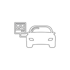 car diagnostics outline icon. Elements of car repair illustration icon. Signs and symbols can be used for web, logo, mobile app, UI, UX