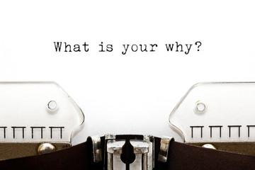What Is Your Why Existential Question Wall mural