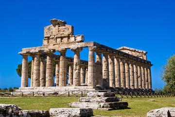 Fotobehang Bedehuis Temple of Athena, Paestum