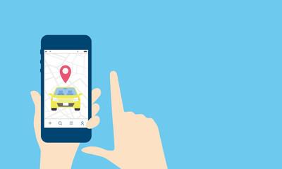 シェアリング、配車アプリのイメージ