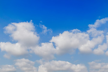 Canvas Prints Heaven Beautiful sky with clouds, wide angle
