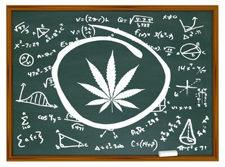 Marijuana Cannabis Weed Pot Formulas Science Inventing New Leaf 3d Illustration