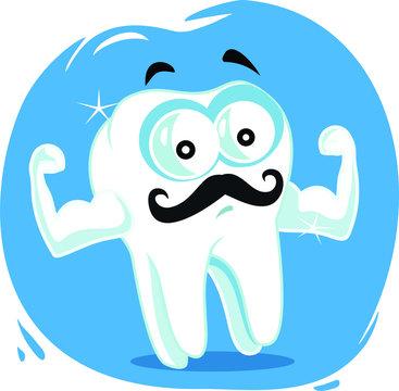 Strong Healthy Tooth Vector Cartoon