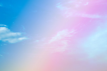 A soft fog cloud background white a pastel colored orage to blue gradient