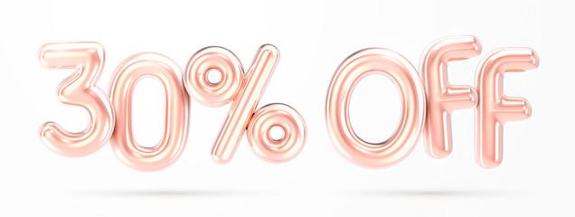 30% off rose gold foil balloon