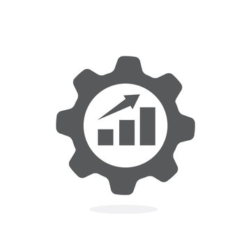 Productivity flat icon on white background