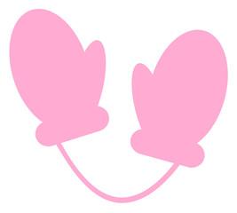 ピンクのミトン