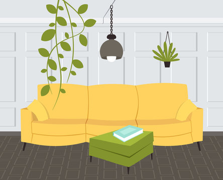 contemporary living room interior empty no people home modern apartment design flat horizontal