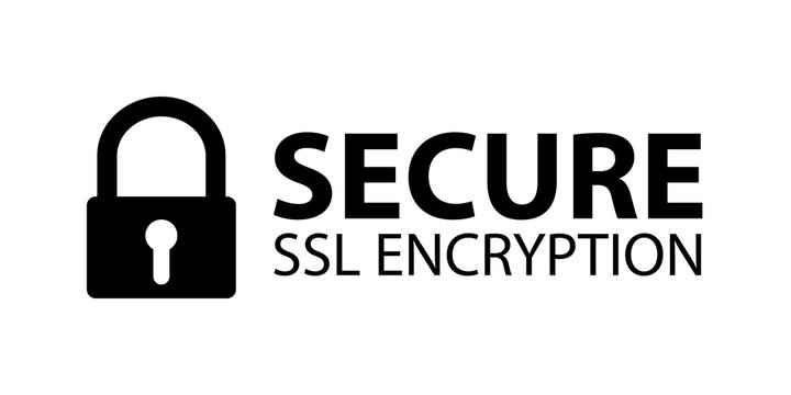 Secure SSL Encryption Banner - Vector Illustration - Isolated On White Background